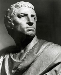 Statue Bust Of Marcus Junius Brutus