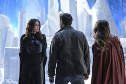 "Supergirl -- ""Distant Sun"" -- SPG217b_0265.jpg ñ Pictured (L-R): Teri Hatcher as Rhea, Chris Wood as Mike/Mon-El, and Melissa Benoist as Kara/Supergirl -- Photo: Robert Falconer/The CW -- © 2017 The CW Network, LLC. All Rights Reserved"